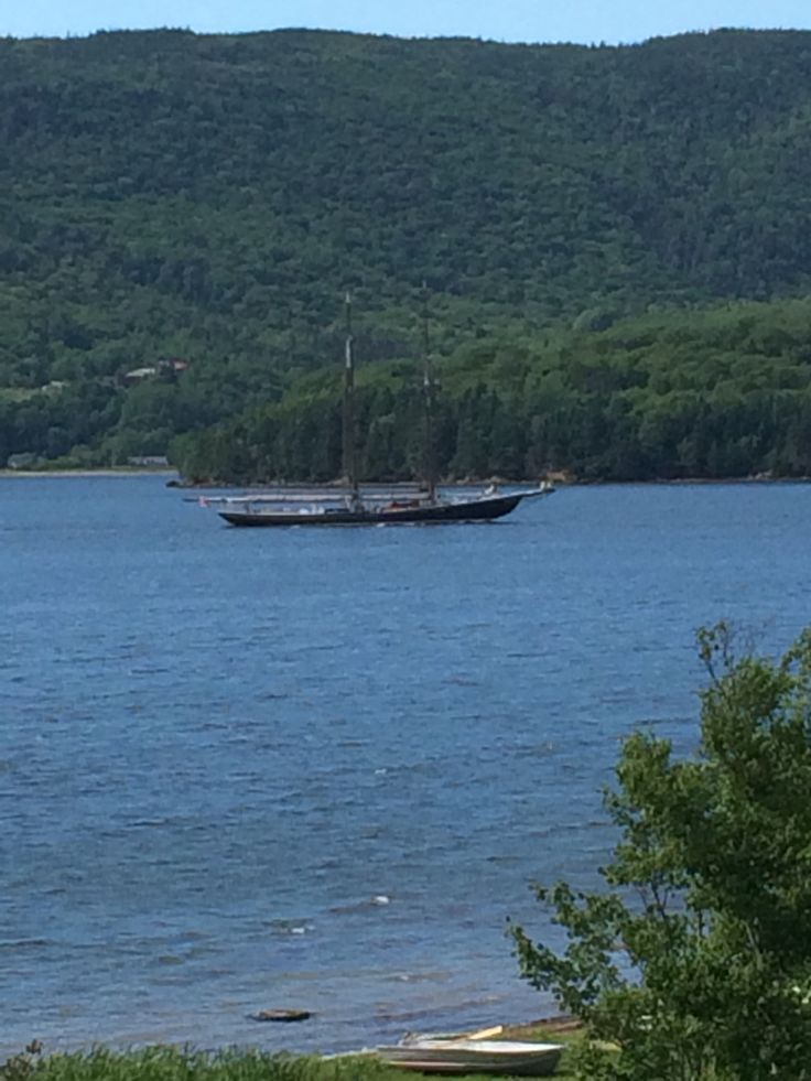 Bluenose ll on the Bras d'or lakes