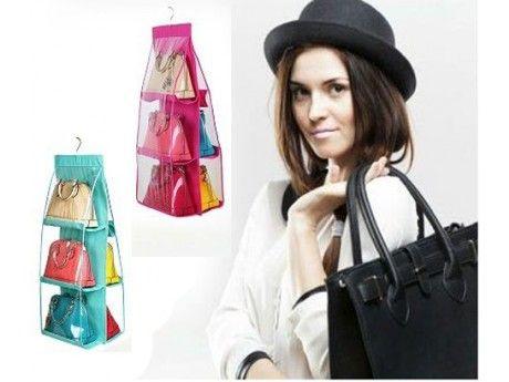 Keep all of your precious handbags safe in this handbag storage holder.