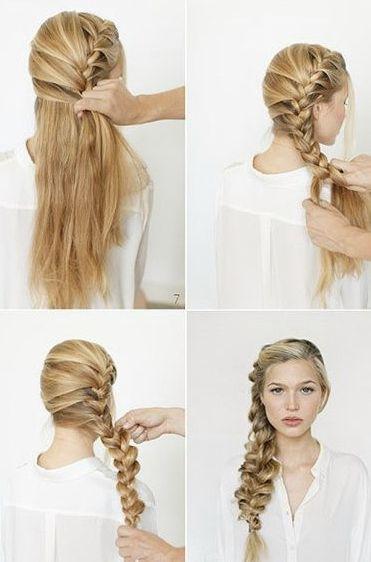 Ladies Hair Styles Tutorials... I'm totally loving big messy braids atm