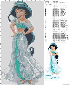 Schema punto croce Principessa Jasmine