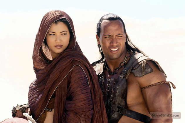 The Scorpion King - Publicity still of Kelly Hu & Dwayne Johnson