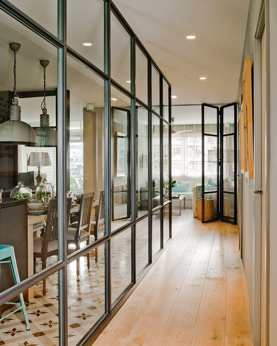 M s de 25 ideas incre bles sobre ventanas interiores en for Puertas acristaladas interior