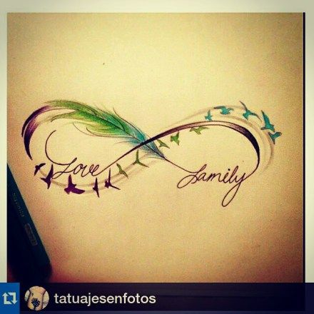 #Repost @tatuajesenfotos #tatuaje #tattoo #desings Definitivamente este es el que va con mi personalidad, este es el que me haria. #Familia #Forever #LoveFamily #Infinito #AlInfinitoYMasAlla | infinito∞∞