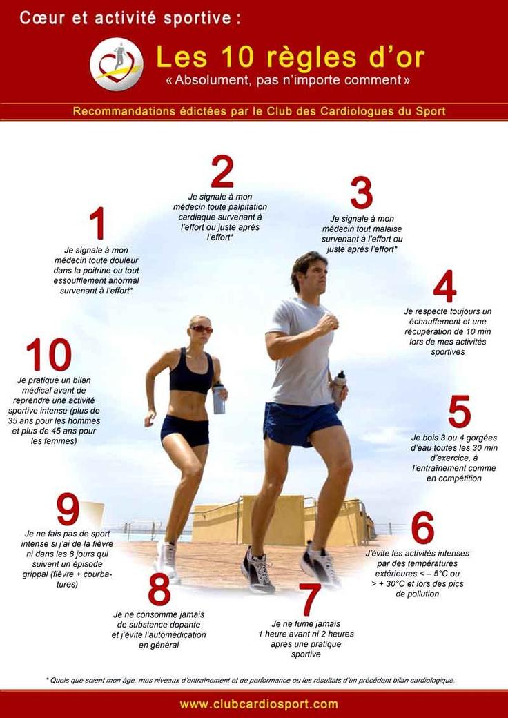 10 conseils concernant le coeur et le sport