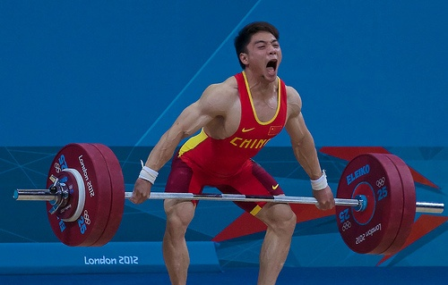 London 2012 Olympic Weightlifting - Jie Zhang (China) - Snatch - 140kg