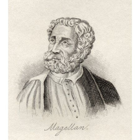 Ferdinand Magellan 1480 - 1521 Portuguese Maritime Explorer From The Book Crabbs Historical Dictionary Published 1825 Canvas Art - Ken Welsh Design Pics (13 x 15)