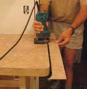 Installing Laminate countertop sheets