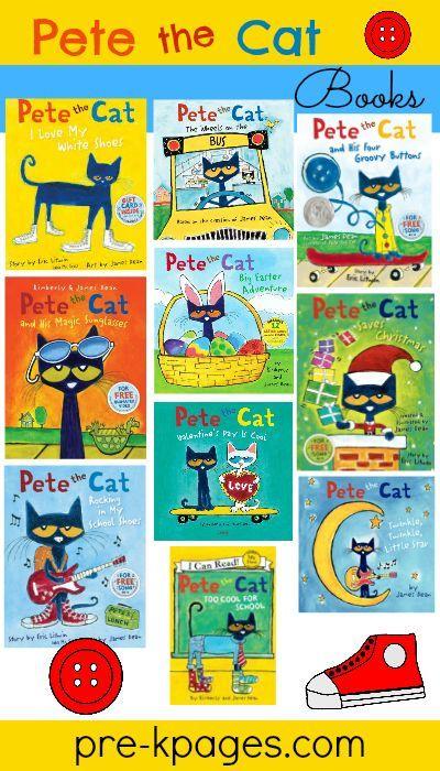 Pete the Cat Story Books for #preschool and #kindergarten #groovycatweek