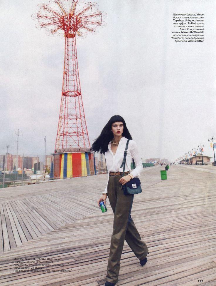 Crystal Renn  by Thomas Whiteside  for Allure Russia September 2012
