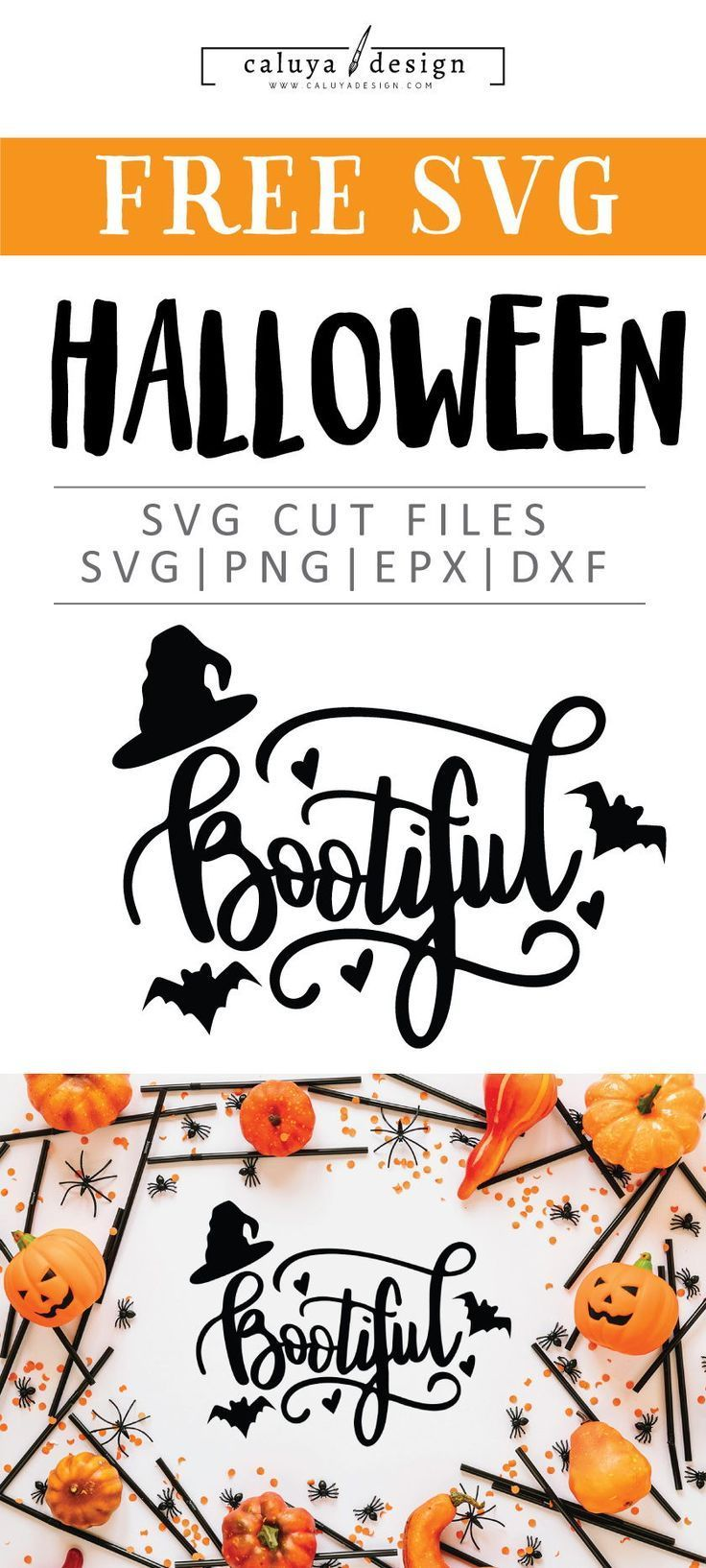 Free Bootiful Svg Png Eps Dxf By Caluya Design Halloween Clipart Free Cricut Halloween Cricut Projects Vinyl