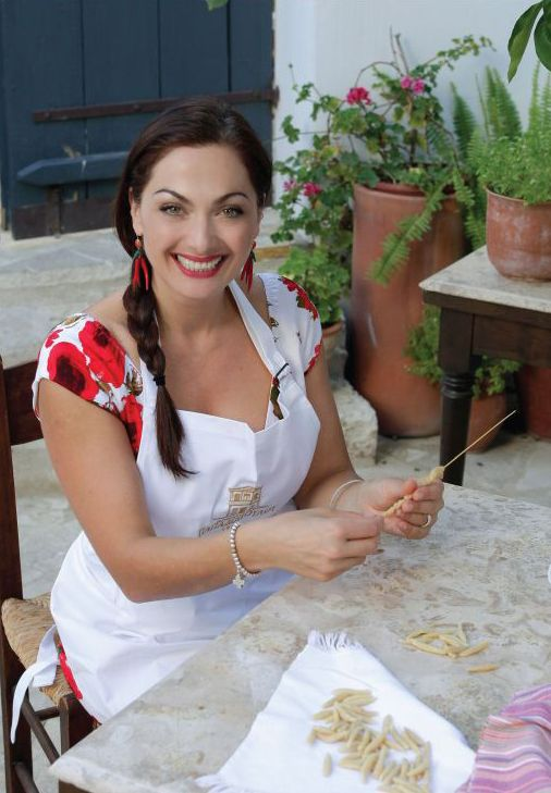 Tonia Buxton                                                       is the host of the Discovery Channel Travel & Living show My Greek Kitchen.