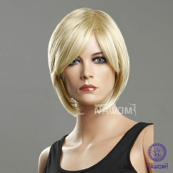 Recommended Classic Golden Short Straight Wigs :