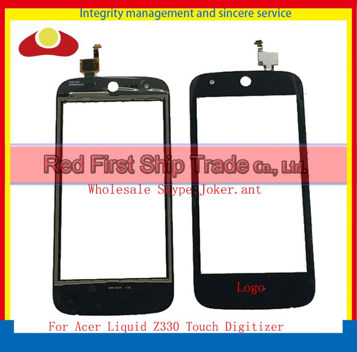 """High Quality 4.5"""" For Acer Liquid Z330 Touch Screen With Digitizer Panel Front Glass Lens Black Free Shipping"""