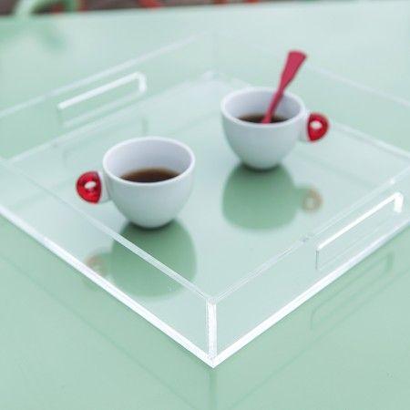Vassoio exclusive trasparente in plexiglass #perspex #design #designtrasparente