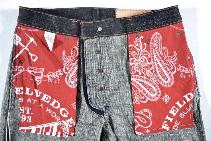 Left Field American made workwear bandana pocket bags