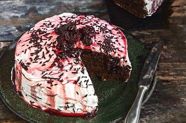 Νηστίσιμη τούρτα black forest