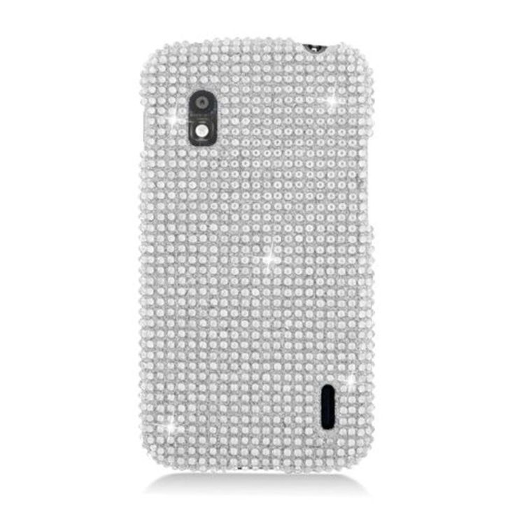 Insten Hard Snap-on Diamond Bling Case Cover For LG Google Nexus 4 E960 #2330088