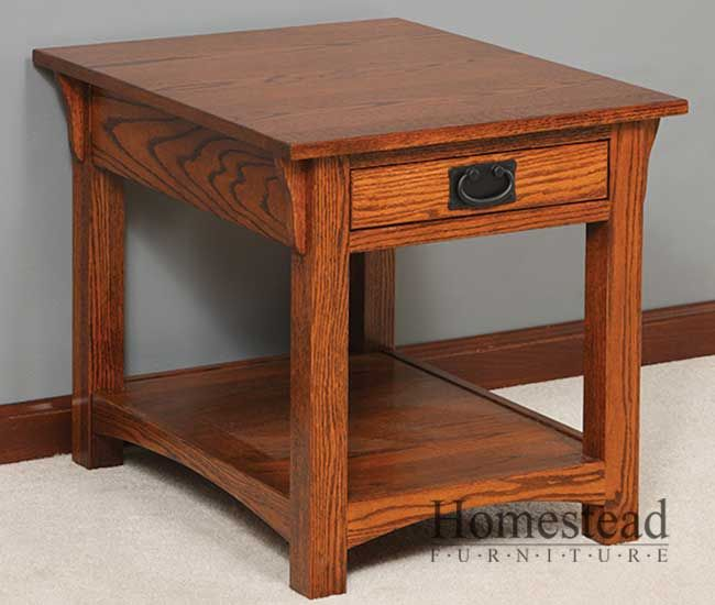 These Mission style end tables would make lovely night stands beside the bed