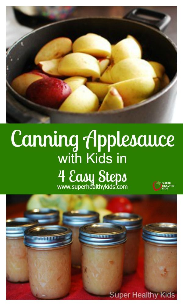 Canning Applesauce with Kids in 4 Easy Steps - Discover the homemade applesauce secret! http://www.superhealthykids.com/canning-applesauce-with-kids-in-4-easy-steps/