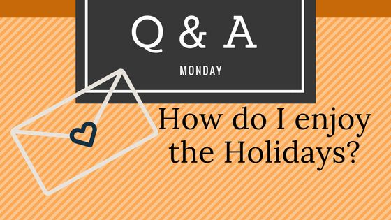 Q & A Monday - Making the most of the Holidays - Proverbs 24:26