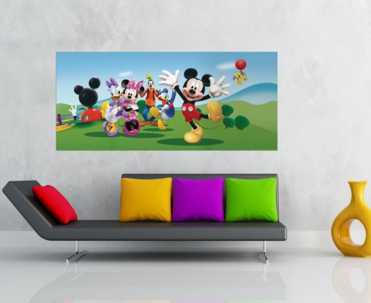 Mickey Mouse Wall Mural By WallandMore. Licensed Disney Collection. Part 56