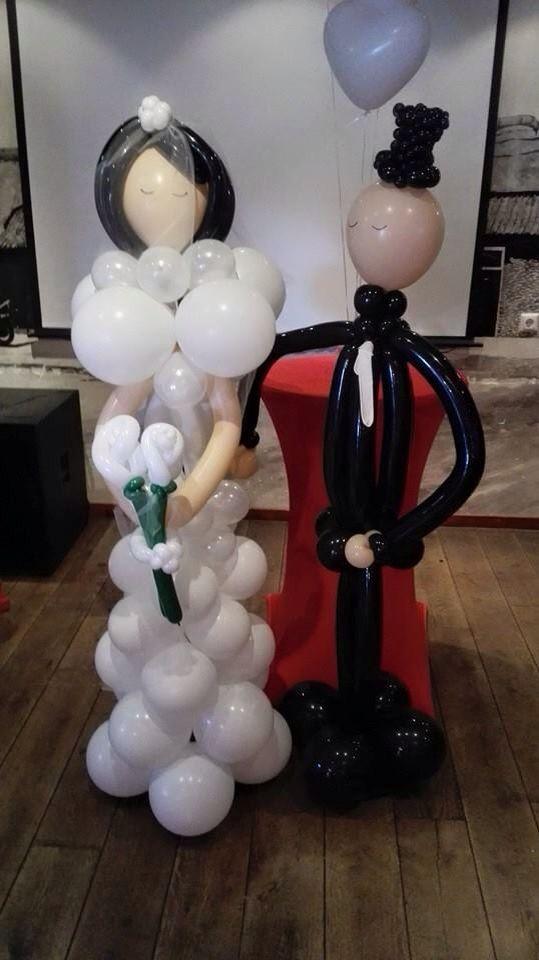 Bruidspaar van ballonnen!