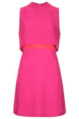 Textured High Neck Crop Dress