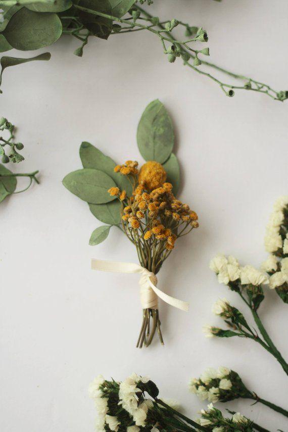 Blue wildflower woodland grooms buttonhole groomsman boutonniere boho rustic wedding corsage