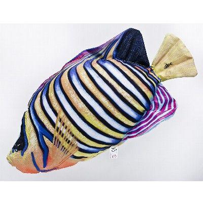 GP 175686 - Cuscino ornamentale a forma di Pesce Angelo Reale - L.56 cm
