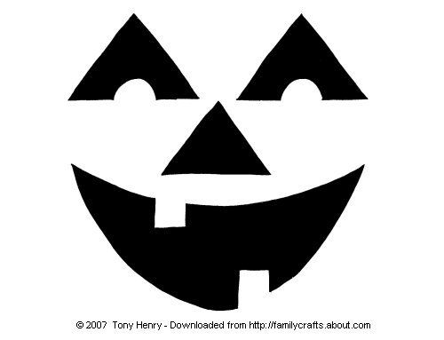 pumpkin stencils to print   Check out this simple happy face pumpkin carving pattern submitted by ...