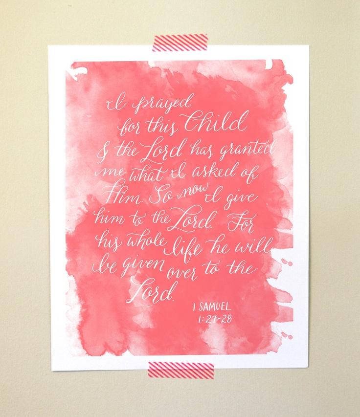 Nursery Bible Verse Art. $20.00, via Etsy.