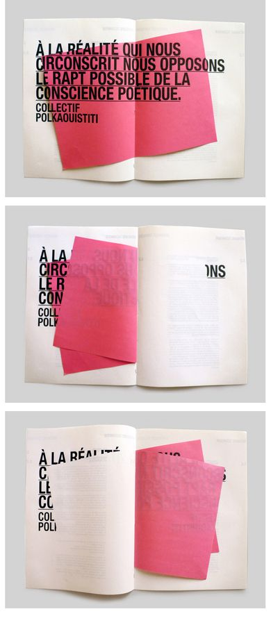 Would be interesting to use this idea for a Mad Magazine-style fold-up layout.  Found on: Designspiration