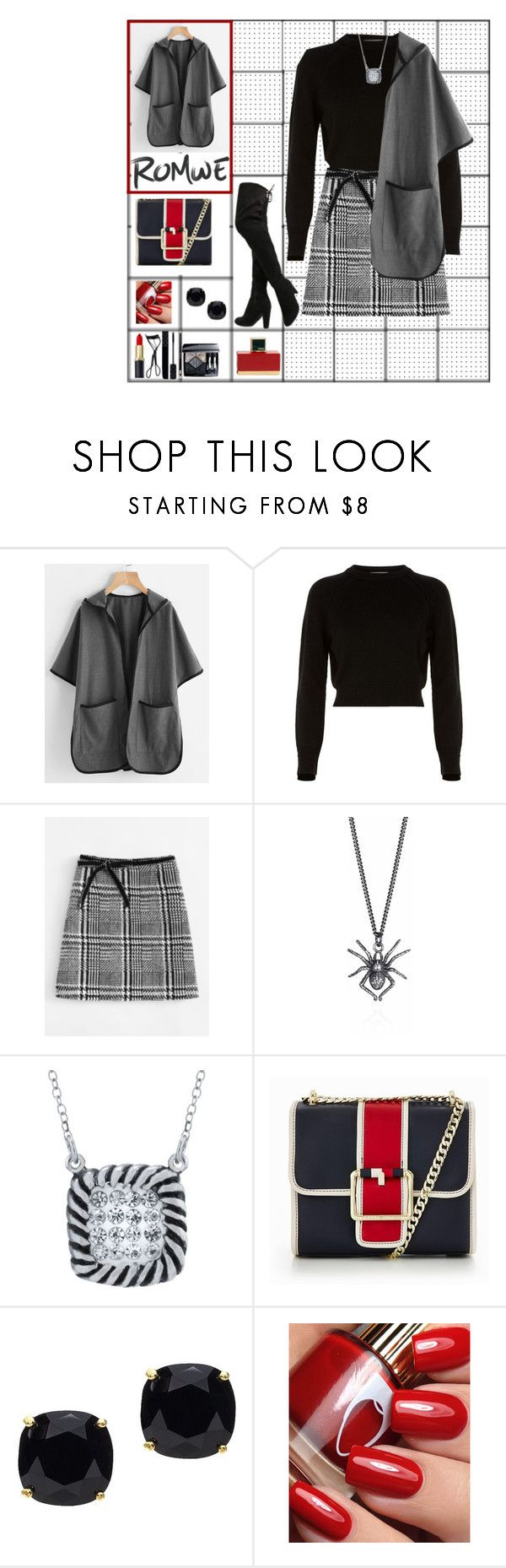 """""""Poncho / lf1"""" by leaff88 ❤ liked on Polyvore featuring Helmut Lang, Belk Silverworks, Tommy Hilfiger, Kate Spade and Fendi"""