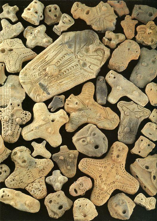 "Women Shamans ""DOGU"" which were discovered in remains of Aomori. Jomon-era. BC.3,500 - BC.2,500. Aomori Japan. talisman:"