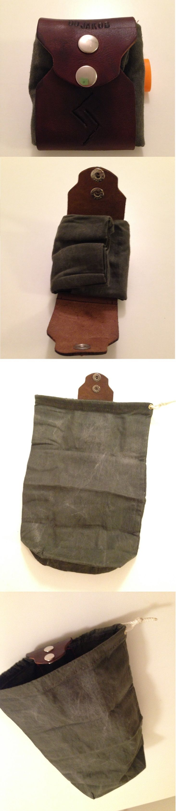 DIY - Selfmade Dump Pouch / Rollypoly - Leather and waxed canvas