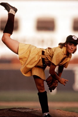 Good pitching form...