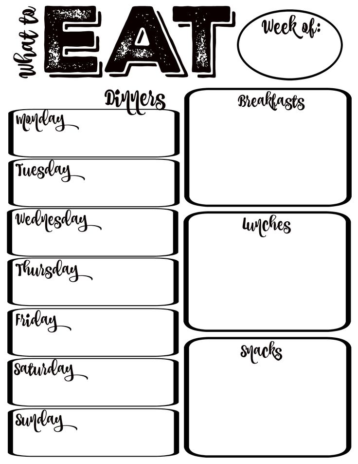 25 best ideas about Meal planning printable – Printable Meal Planner