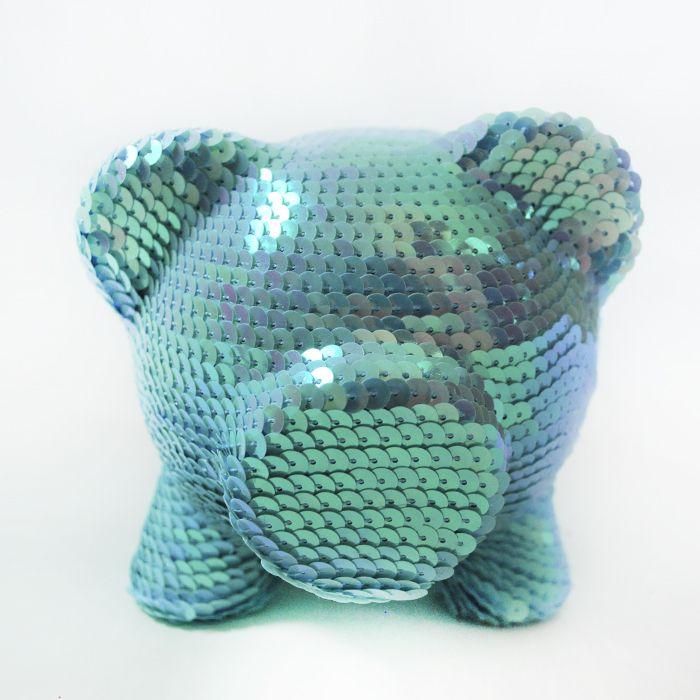 Alcancia Lentejuela Azul Tornasol - Oing Oing, $65.000