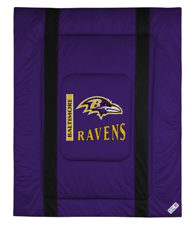Baltimore Ravens Comforter - Sidelines Collection $79.95 http://www.mysportsdecor.com/baltimore-ravens-sidelines-comforter.html #baltimoreravens #baltimoreravenscomforter
