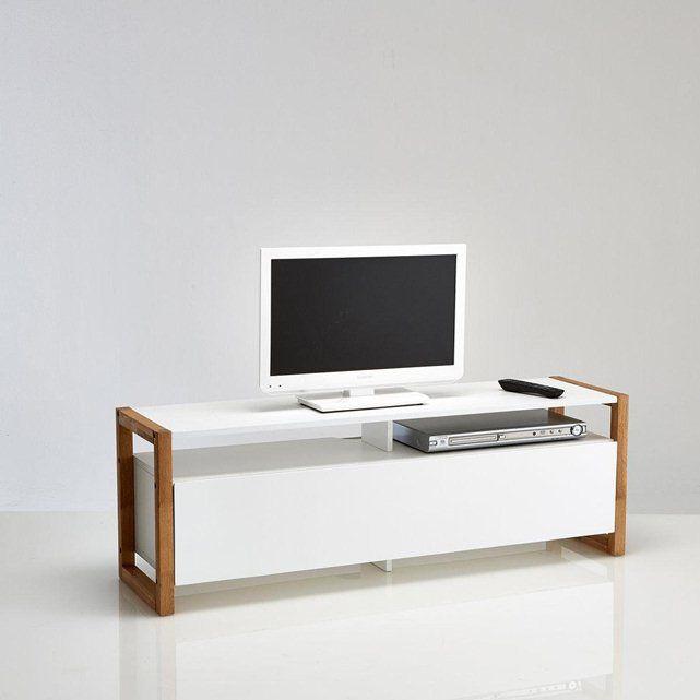 Meuble TV porte abattante, Compo LA REDOUTE : prix, avis & notation, livraison. Le meuble TV porte abattante, Compo. Style scandinave, un mariage chêne massif huilé et de MDF blanc pour ce meuble TV contemporain à associer aux autres meubles de la gamme Compo. Descriptif du meuble TV porte abattante, Compo :1 porte abattante ouvrant sur 2 niches2 niches ouvertesPoids maxi du téléviseur : 50 kgPour écran jusqu'à 50 pouces (127 cm)Caractéristiques du meuble TV porte abattante, Compo :Caisson…
