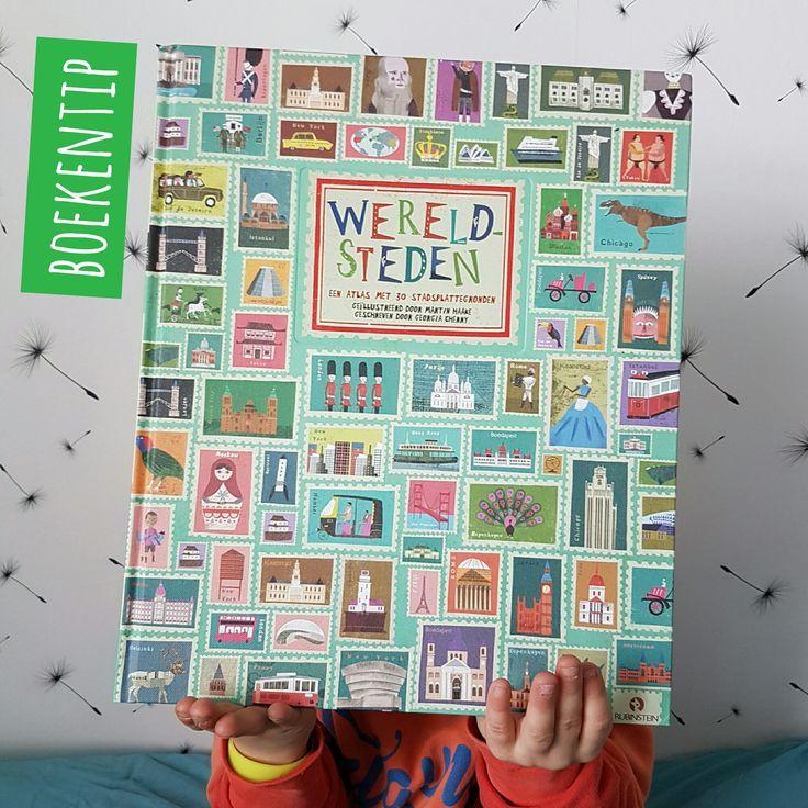 Boekentip: Wereldsteden, met prachtige getekende plattegronden #leukmetkids #atlas #boeken