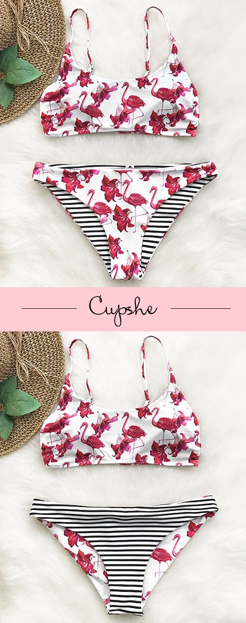 New Arrival Comes! Treat yourself with this fabulous bikini set. It features stunning prints style and unique reversible bottom. So comfy & chic! Free shipping & Shop now!