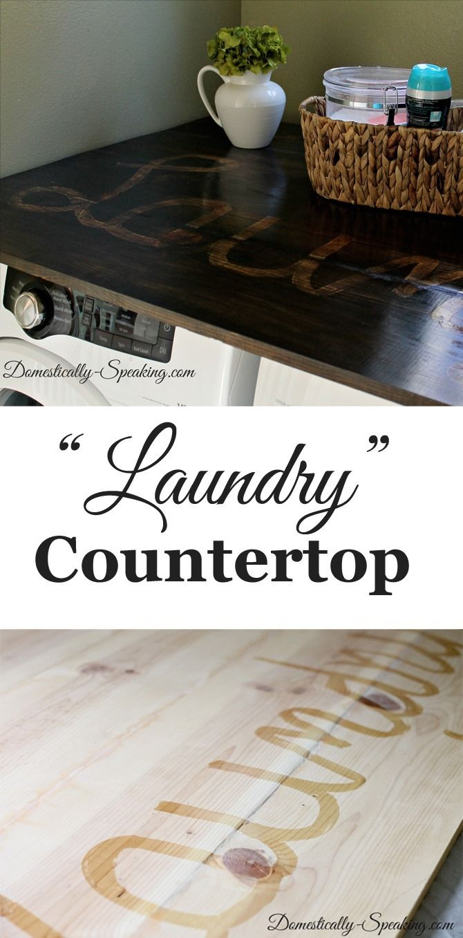 "How to make a ""Laundry"" countertop ~ using pine boards"