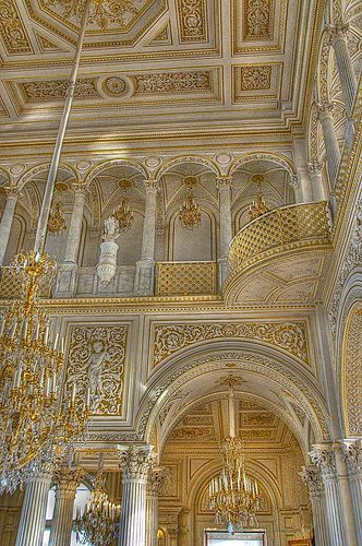 Interior of the Hermitage, St Petersburg, Russia