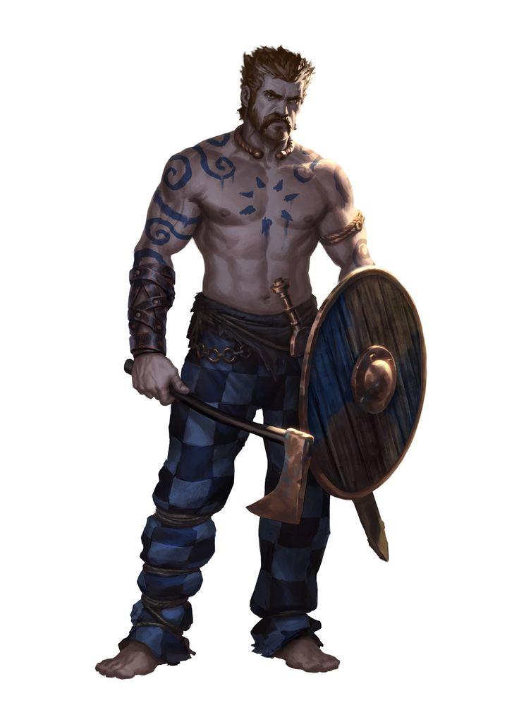 Celtic Warrior, Hogni J. Mohr on ArtStation at https://www.artstation.com/artwork/Jw2qZ