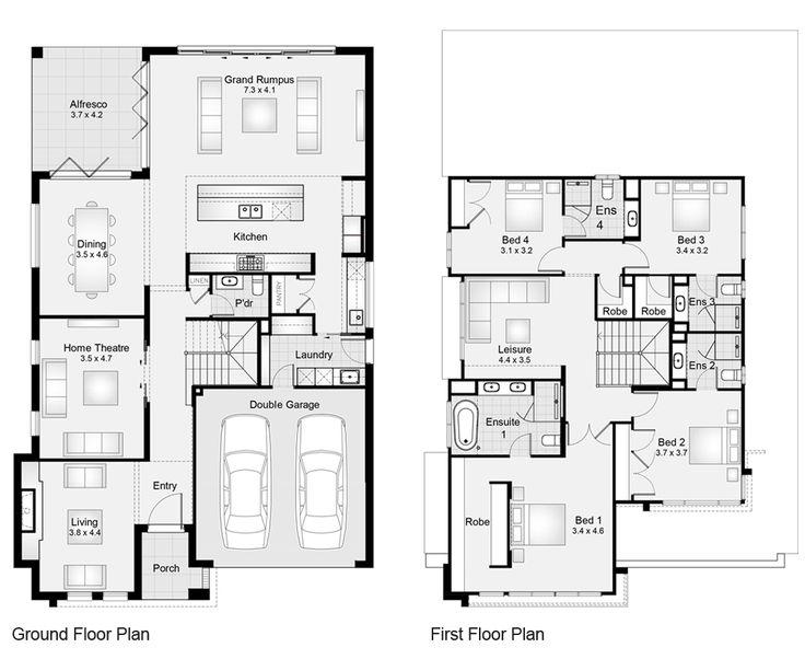 9 best new build floor plans images on pinterest floor for Oceanside house plans