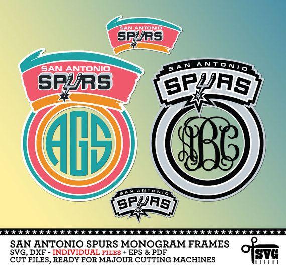 San antonio spurs monogram frames svg dxf eps png cut files · yeti decalsvinyl