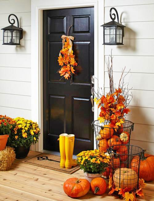 248 best fall decorating diy ideas images on pinterest for Fall decorations for outside the home