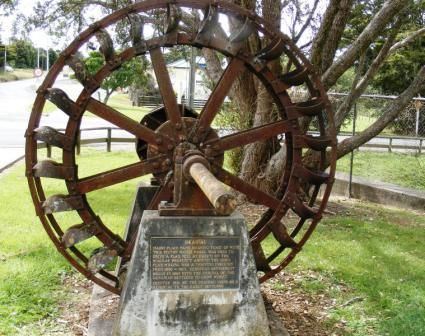 Flax mill wheel, Okaihau