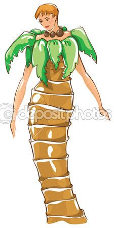 Carnival costumes - palm tree — Stock Illustration #12864592